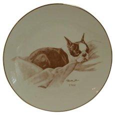 Boston Terrier Laurelwood Collector's Plate 1985
