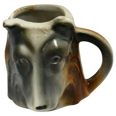 Occupied Japan Figural German Shepherd Head Toothpick Holder c.1945 - 1952