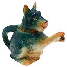 Vintage Schnauzer Dog One-Cup Porcelain Teapot