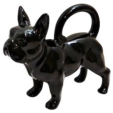 Retro French Bulldog Figural Water Pitcher c. 1970's