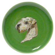 Hand-Painted Sealyham Terrier Dog Portrait Plate