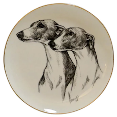 Greyhound/Whippet Decorative Plate