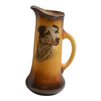 Antique Taylor Smith & Taylor Pitcher With Dog