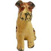 Vintage Cold Painted Metal Fox Terrier Figurine