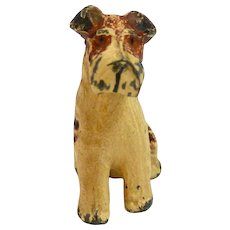 Vintage Cold Painted Metal Fox Terrier Figurine