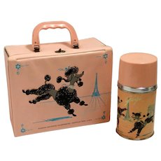 "Vintage ""Gigi"" Poodle Lunchbox and Thermos c. 1962"