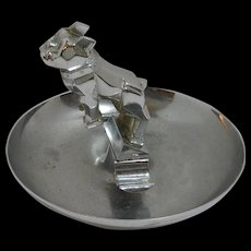 Vintage Mack Truck Bulldog Hood Ornament Cigar Ashtray