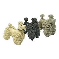 Spaghetti Poodles in Three Colors c. 1950's