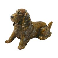Austrian Cold-Painted Cocker Spaniel Dog Lighter/Ashtray/Pipe Holder
