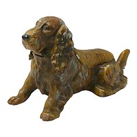 Austrian Cold-Painted Cocker Spaniel Dog Lighter/Ashtray