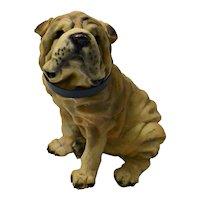 Vintage Large Shar-Pei Dog Figurine