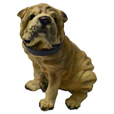 Vintage Large Shar-Pei Dog Figurine