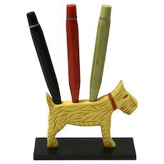 Bakelite Scottish Terrier Dog Pencil Holder