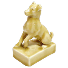 Rookwood Terrier Dog Paperweight #2777