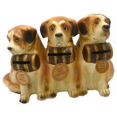 Vintage McCoy Pottery Saint Bernard Dog Bank c.1950