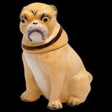 Antique Victorian English Pug Dog Tobacco Jar c.1800's