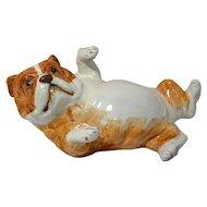 Italian Pottery Bulldog Puppy Figurine