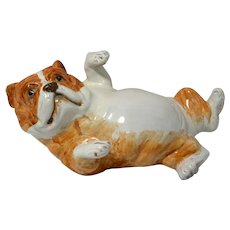 Italian Pottery Bulldog Puppy Figurine
