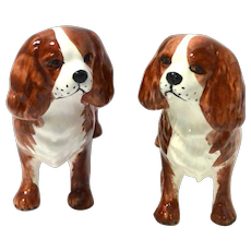 Matched Pair of Cavalier King Charles Spaniels - Made in Italy