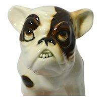 Art Deco Czechoslovakian Porcelain Bulldog c. 1920's - 1930's