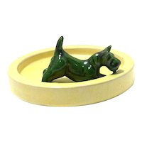 Upsala Ekeby Pottery Scottish Terrier Dish