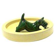 Upsala Ekeby Pottery Scottish Terrier Dish