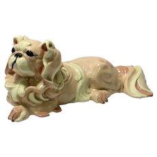 Kay Finch Vintage Pink Pekingese Figurine