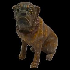 Terracotta Bulldog with Glass Eyes c.1880-1900