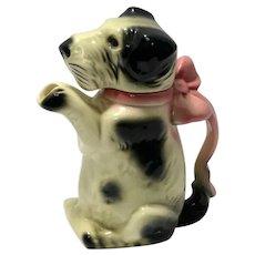 "Majolica ""Erphila"" Figural Terrier Dog Teapot c. 1920's-1930's"