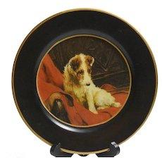 Vintage Fox Terrier Dog Raymond Waites Plate