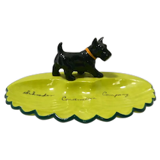 Vintage Decorative Plate with Scottish Terrier c.1960's