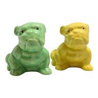 Morton Pottery Pair of Bulldog Planters