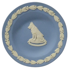 Wedgewood Trinket Dish with German Shepherd Guide Dog