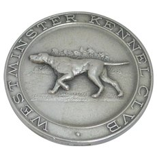 "Westminster Kennel Club Sterling Silver ""Best of Breed"" Medal by Tiffany c.1971"