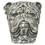 Antique Edwardian Sterling Silver Bulldog Paperclip c. 1905