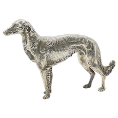 Silver Plate Borzoi Dog Jennings Brothers c. 1930's