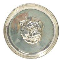 Sterling Silver Bulldog Portrait Dish c.1910