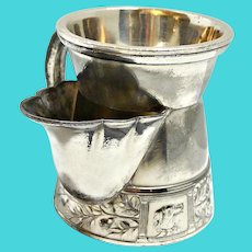 Antique Victorian Silver Plate Shaving Mug