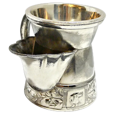 Antique Victorian Silver Plate Shaving Mug