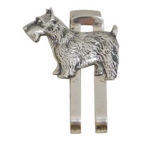Sterling Silver Money Clip with Scottish Terrier