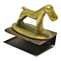 Hagenauer Art Deco Bronze Dog Matchbox Holder