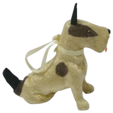 Flocked Mohair Miniature Terrier Dog