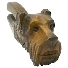 Antique Anri Figural Schnauzer Dog Nutcracker c. early 1900's