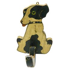 Vintage Hand Painted Puppy Wall Hook c. 1950's
