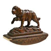Black Forest Figural Saint Bernard Dog Desktop Ink Blotter