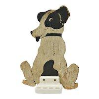 Folk Art Dog Toothbrush Holder