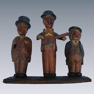 FOLK ART BAR SET!  Trio of funny Old Men Bar Tools.  Italian, Hand-Carved & Hand-Painted.  Ari Hand.
