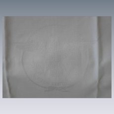 EXTREMELY RARE, Irish Linen, Original S S United States Lines Bread Napkin, dated 1968