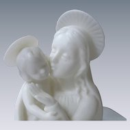 Vintage, Bisque, Porcelain Lenwile Ardalt, Verithin, Madonna & Child Figurine