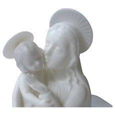 Vintage, Bisque, Porcelain Lenwile Ardalt, Verithin, Madonna & Child Figurine